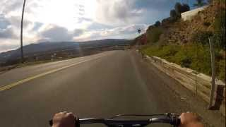 QUICK DOWNHILL ON HIGHWAY
