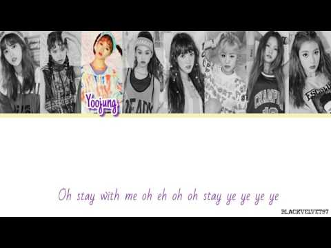 Weki Meki - Stay With Me Color Coded Lyrics HAN/ROM/ENG