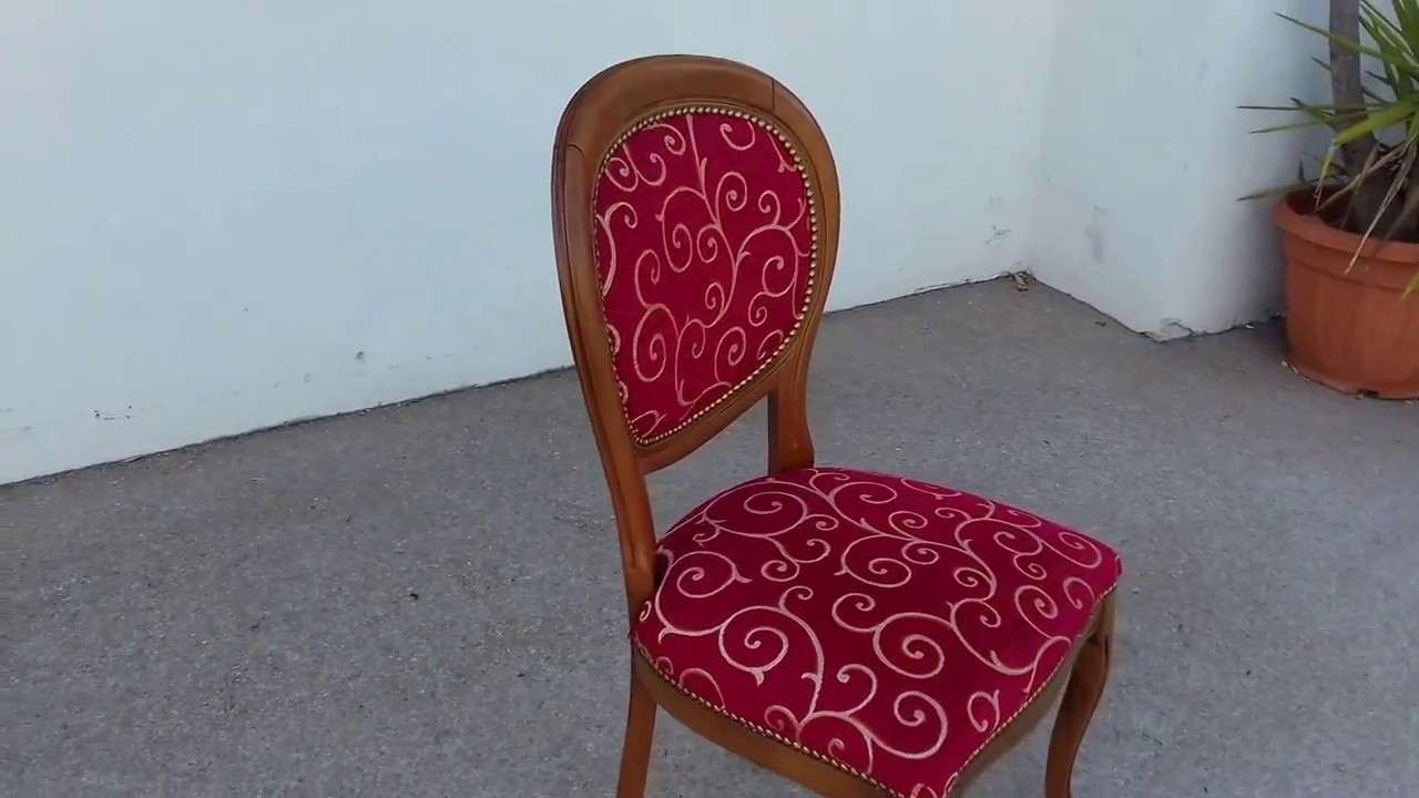 """Renover Une Chaise Medaillon chaise style """"louis philippe"""" - youtube"""