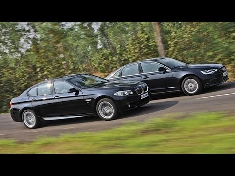 2014 BMW 5 Series vs Audi A6 in India  YouTube