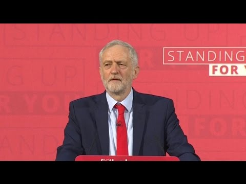 Jeremy Corbyn's first major campaign speech - watch live