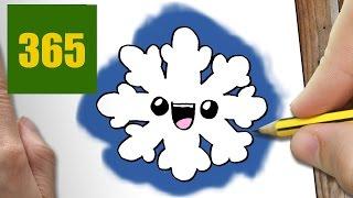 Comment Dessiner Flocon De Neige Kawaii Etape Par Etape Dessins Kawaii Facile Youtube