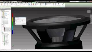 Subwoofer Excursion Animation 2 - Autodesk Inventor