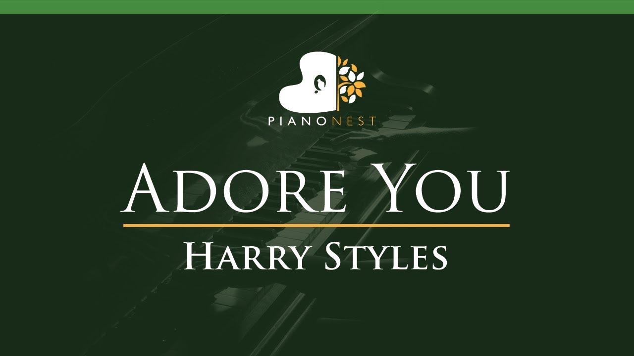 Harry Styles - Adore You - LOWER Key (Piano Karaoke Instrumental)