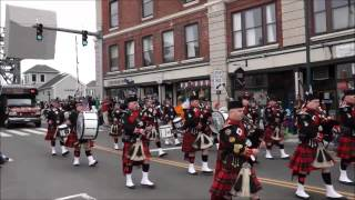 New London Firefighters Pipes & Drums in 11th Mystic Irish Parade