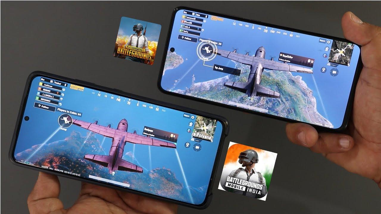 PUBG VS BGMI Comparison GamePlay I Battleground mobile india Vs PUBG