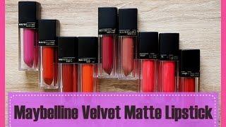 Maybelline Velvet Matte Lipstick | Maybelline Velvet Matte Lipstick shades & Price