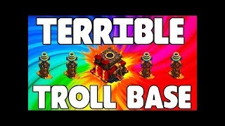 Clash Of Clans Troll Base||Pushing Trophies|| India