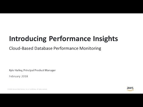 Introducing Performance Insights - Cloud-Based Database Performance  Monitoring