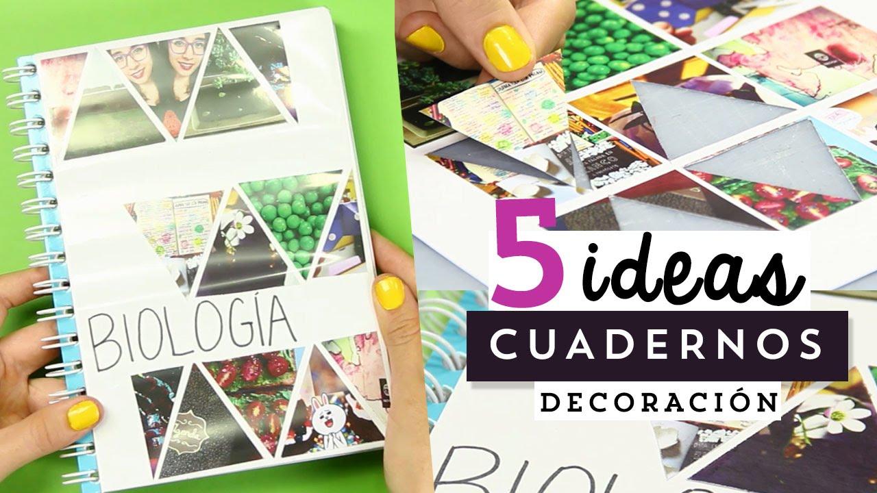 ideas fciles para decorar tus cuadernos o libretas megatuto craftingeek youtube
