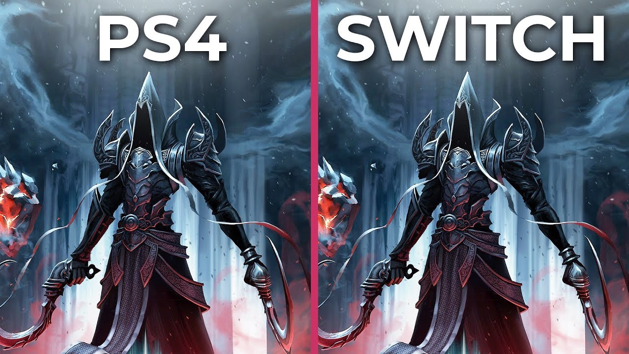 Diablo 3 – PS4 vs  Switch Docked & Handheld Graphics Comparison