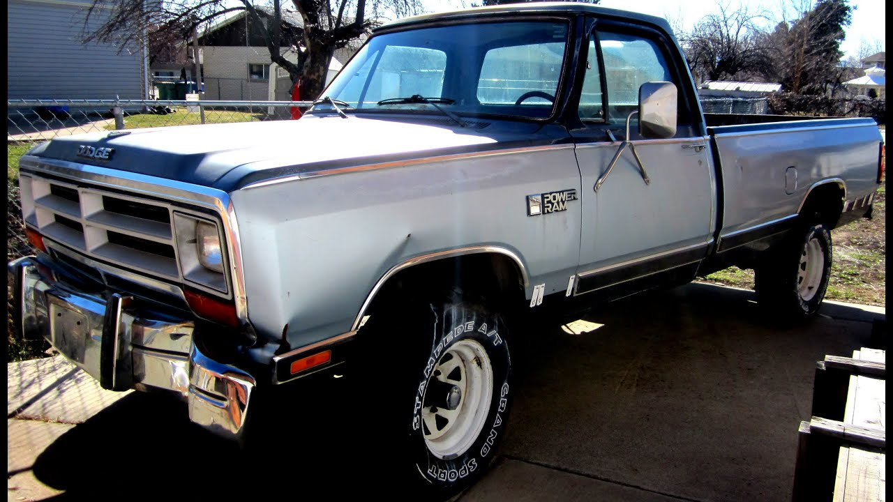 1986 Dodge Power Ram W150 - YouTube on