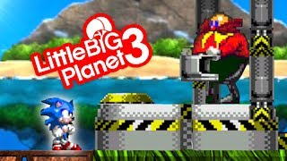 LittleBigPlanet 3 - Sonic Paradise Isle Zone Act 1 - PS4 Gameplay