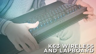 CORSAIR K63 Keyboard and Gaming Lapboard - Uncompromised Wireless, Mechanical Performance