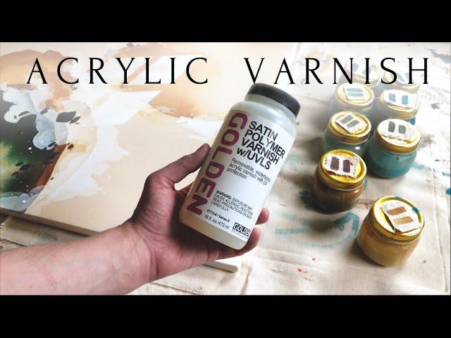 How I Varnish My Paintings | Acrylic Satin Varnish on Unprimed Canvas
