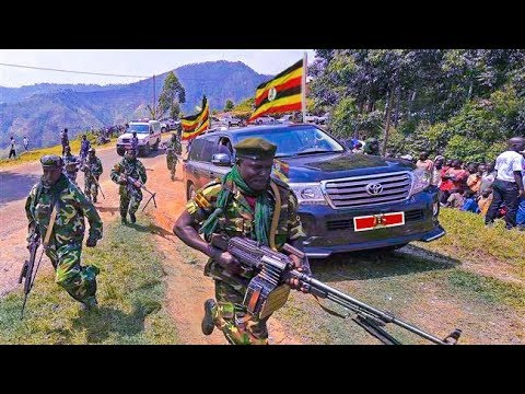 MUSEVENI Special Force Convoy: Incredible Security convoy Soldiers by President Museveni