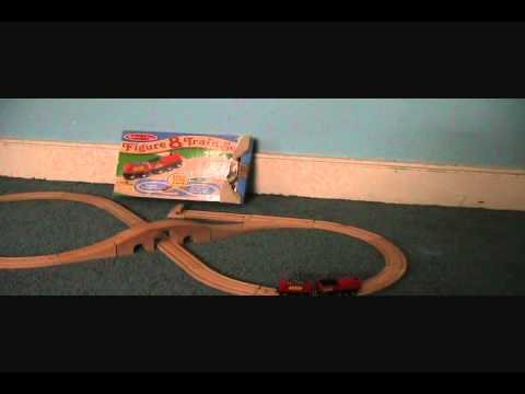 Melissa and Doug Figure Eight Wooden Train Set Review - YouTube