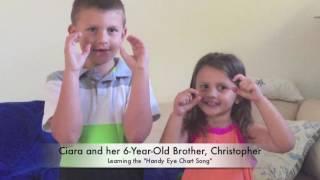 Handy Eye Chart Chart - Vision Screening  4 1/2-Year-Old