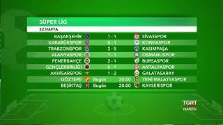 Süper Lig Sonuçlar ve Puan Durumu | 32. Hafta