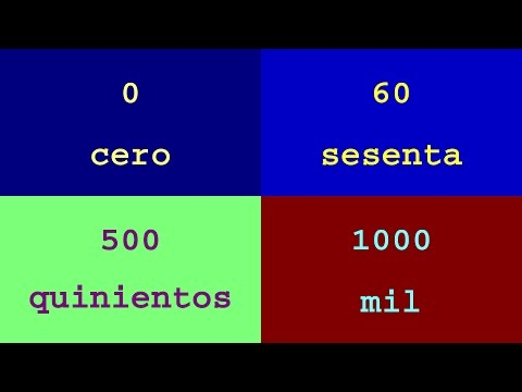 Colorful Numbers and Words : numbers from 0 to 1000 in Spanish
