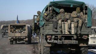Как ополчение заходило в город Дебальцево. АТО. ДНР. / War in Ukraine
