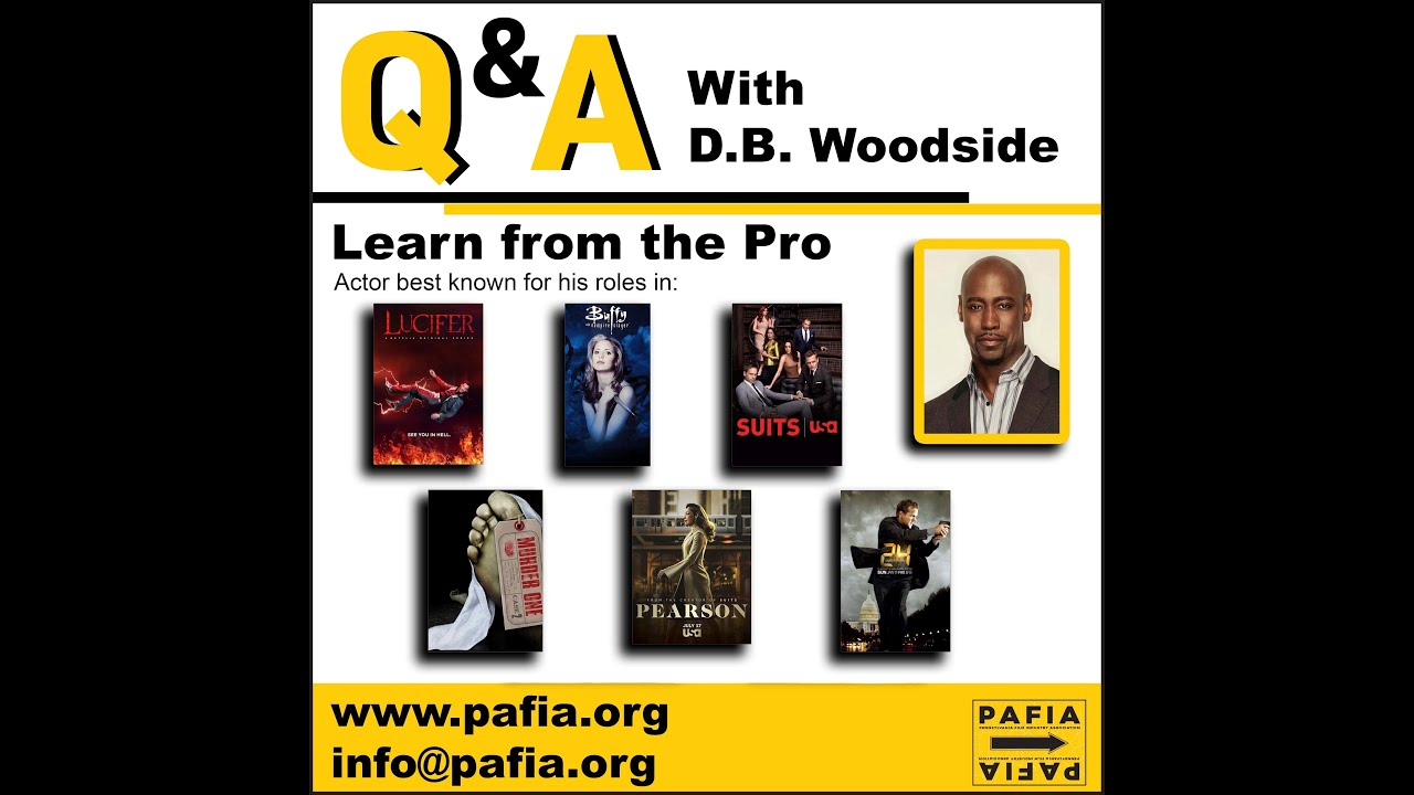 Masterclass with D.B. Woodside