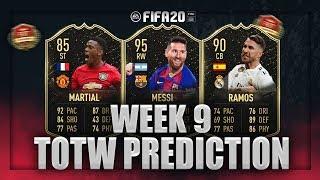 FIFA 20: TOTW PREDICTION #9!! ft. MESSI, MARTIAL & RAMOS