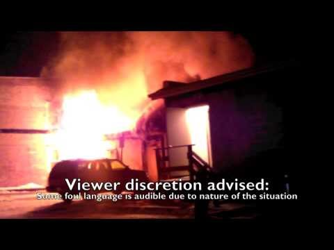 Footage from first to respond to Dec. 11, 2013 fire in downtown Ripon