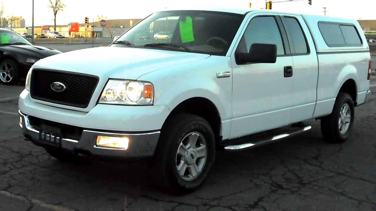 2004 ford f150 xlt super cab 4dr 4x4 5 4 v8 loaded white warranty youtube. Black Bedroom Furniture Sets. Home Design Ideas