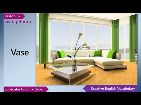 Living Room Furniture Vocabulary learn english - english vocabulary lesson 57 - living room | free