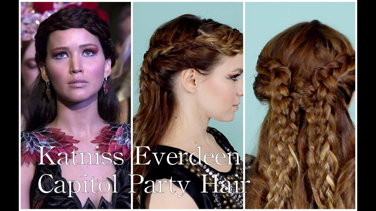 Katniss Everdeen's Catching Fire Capitol Party Hairstyle YouTube