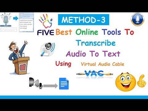 5 Best FREE Online Tools To Transcribe Audio To Text -2017 [ METHOD-3]