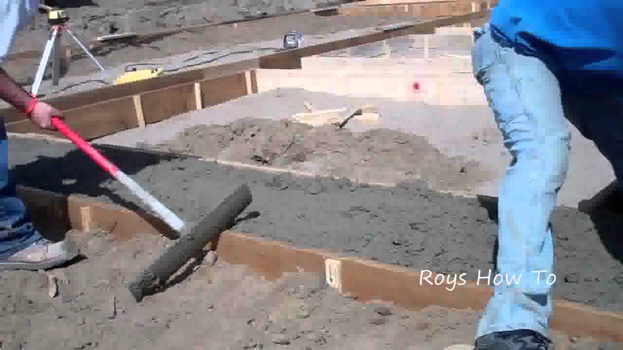 Pouring concrete footings doovi Foundation pouring