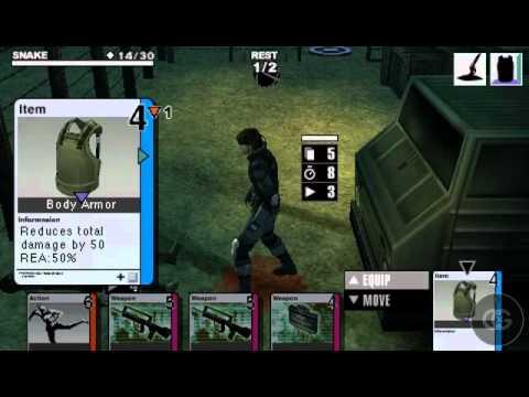 Metal Gear Ac!d Walkthrough - 05 - Stage 04A: Minefield - Lower