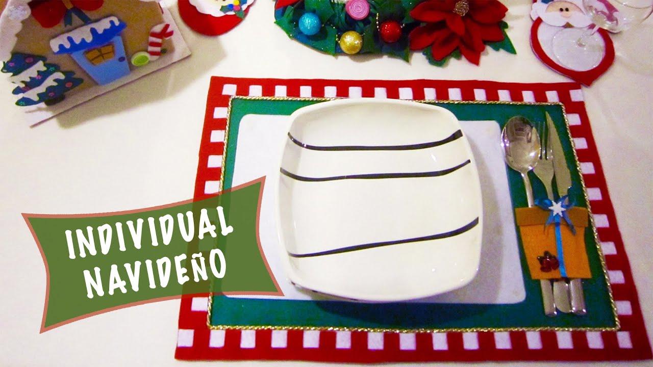 Individual Navideño: Ideas decorar tu mesa en Navidad - YouTube