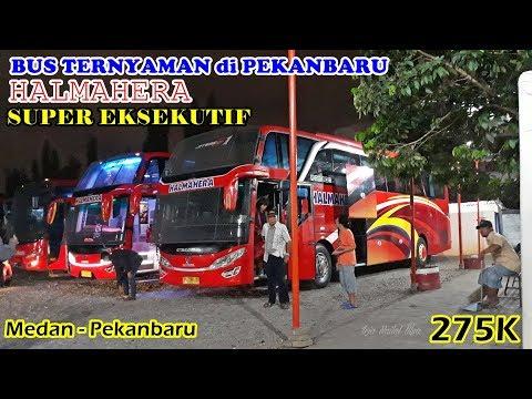 BUS TERNYAMAN di PEKANBARU, Tapi Lamaaaa. Trip by Halmahera Super Eksekutif Medan-Pekanbaru