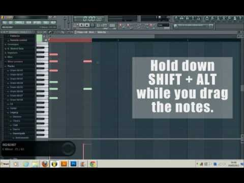 FL Studio 10 How To Copy Paste Notes In The Piano Roll