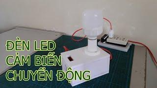 Làm Đế Đèn LED 220V Tự Động Bật/Tắt Dùng Cảm Biến Chuyển Động