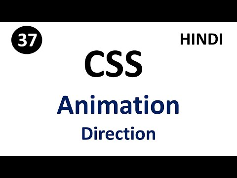 Animation-Direction property in css | Part - 37 | CSS Tutorial in Hindi thumbnail