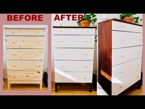 DIY Mid Century Modern Dresser | IKEA Hack