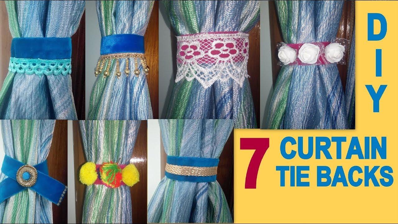 diy 7 easy curtain tie backs room decor idea its makeover tym