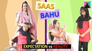 Saas Bahu Expectation Vs Reality l funny story  l Ayu And Anu Twin Sisters