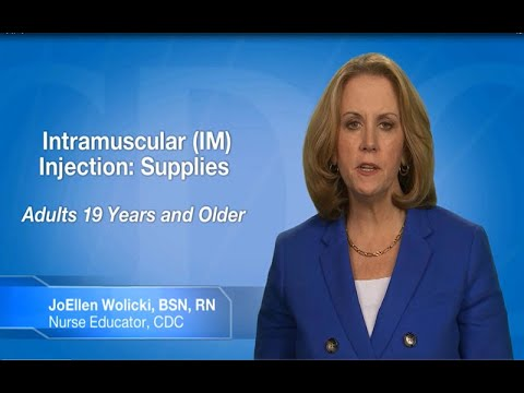 Intramuscular Injection: Supplies (Adults 19 Years of Age and Older)