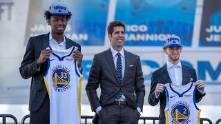 Golden State introduce Wiseman and Mannion to Warriors ground