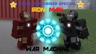 2000 Spécial Abonné! Roblox Iron man vs War Machine! Jouer à d'autres jeux!