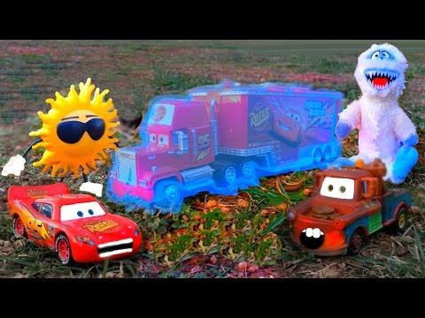 Disney Pixar Cars Red Mack Hauler Frozen, Ice Monster ATTACK, Lighting McQueen Sad Disney Toy Story