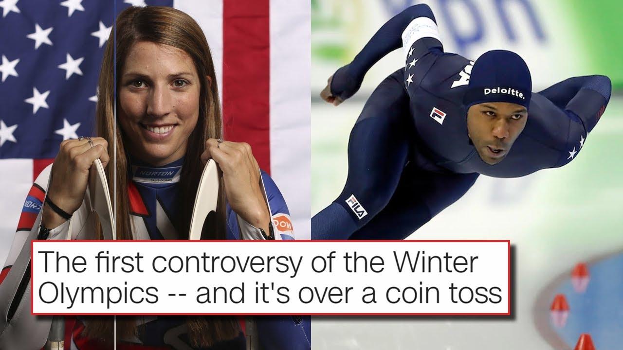 Shani Davis is asked about his flag-bearer tweet after speedskating 1500 race