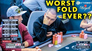 Worst Fold Ever??? You WON'T BELIEVE This Hand ♠ Live at the Bike!