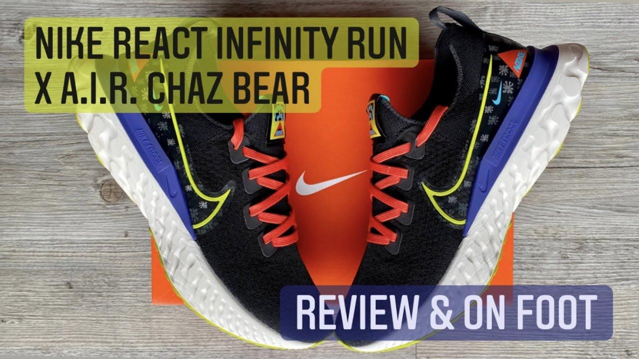 BEST EVERYDAY TRAINING SHOE? // NIKE REACT INFINITY RUN x A.I.R. CHAZ BEAR