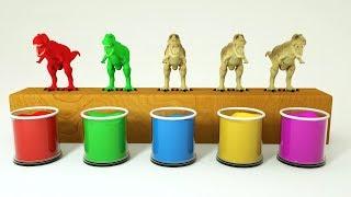 Çocuklar için Dinozorlar ile öğrenmek Renkler çocukların eğitimi, renkler /